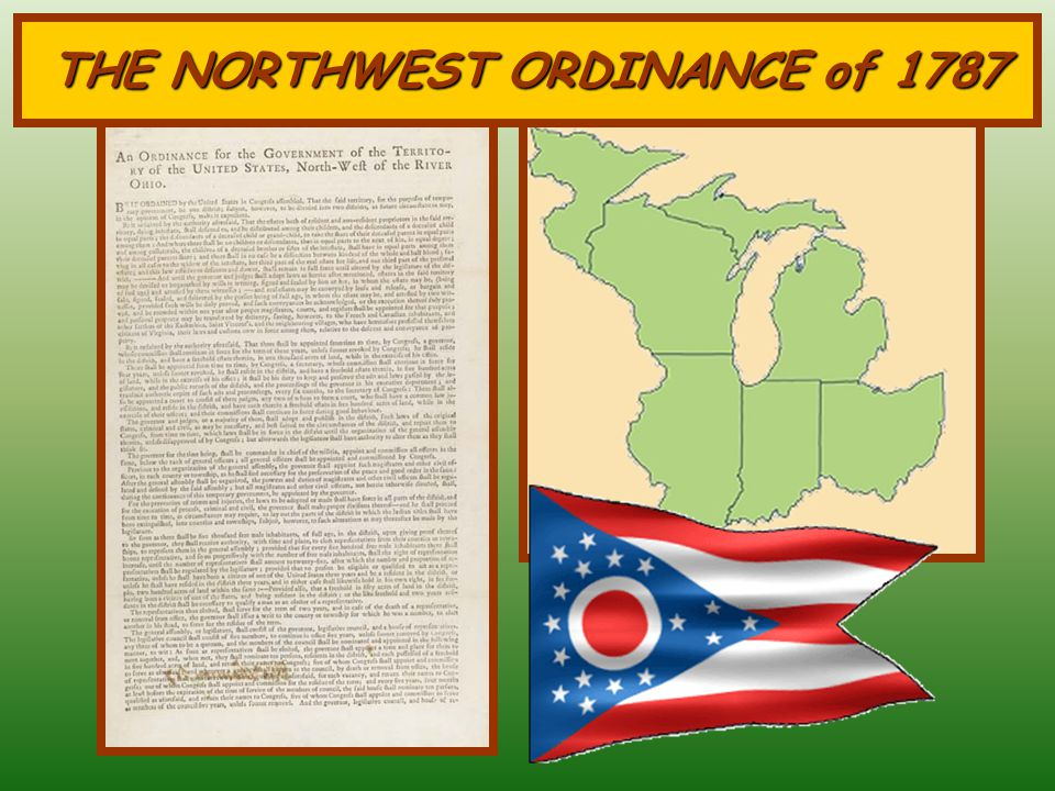 Northwest Territory One of the most important accomplishments under the Articles of Confederation Planned to sell land to raise revenue By 1784, a ple