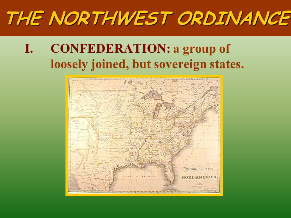 THE NORTHWEST ORDINANCE of 1787
