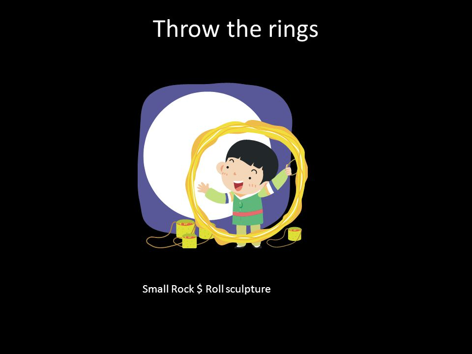 Throw the rings Small Rock $ Roll sculpture