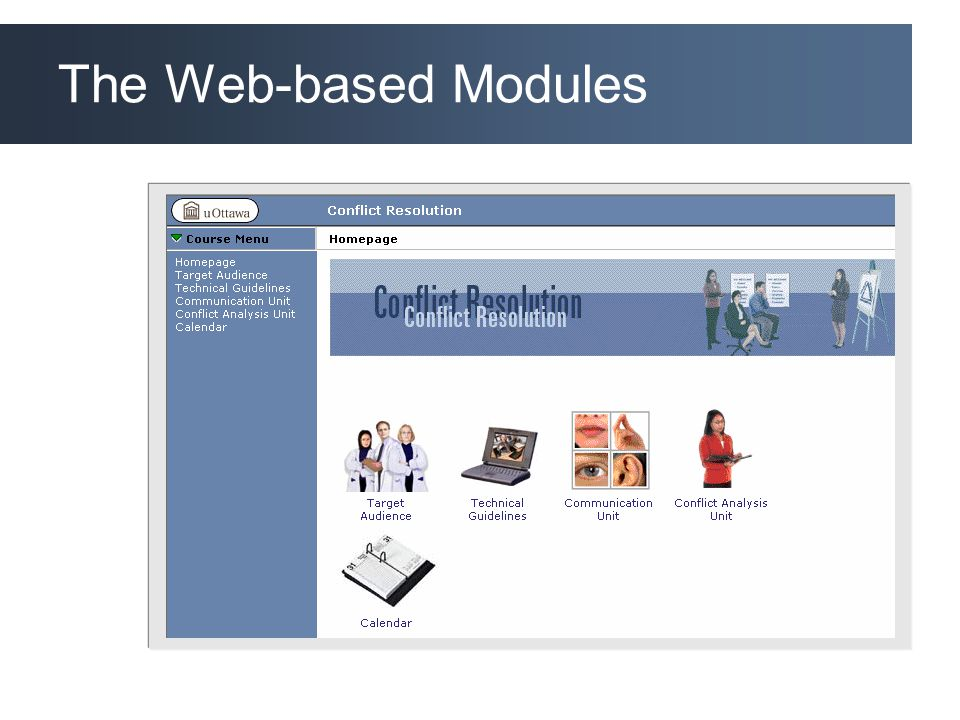 The Web-based Modules