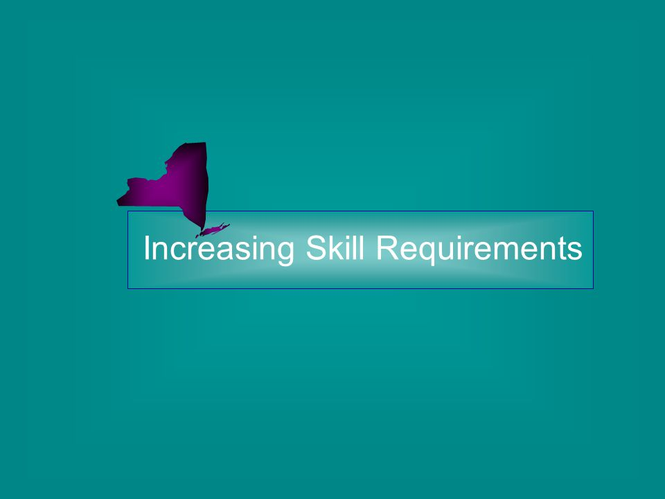 Increasing Skill Requirements