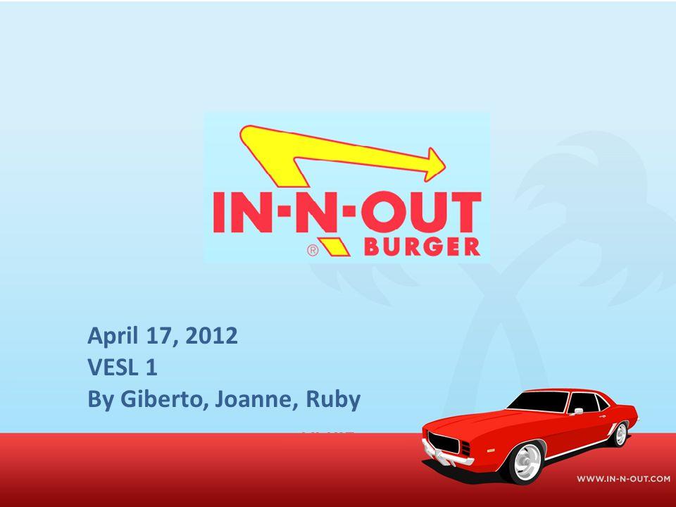 April 17, 2012 VESL 1 By Giberto, Joanne, Ruby