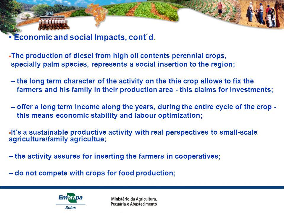 Economic and social Impacts, cont`d.