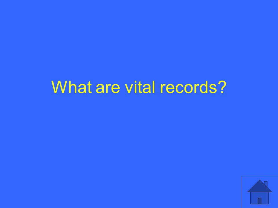 What are vital records