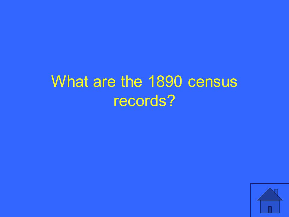 What are the 1890 census records