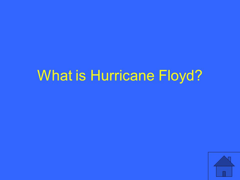 What is Hurricane Floyd?