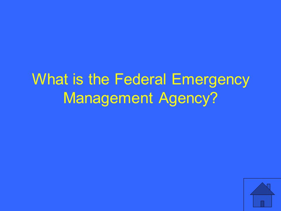 What is the Federal Emergency Management Agency?