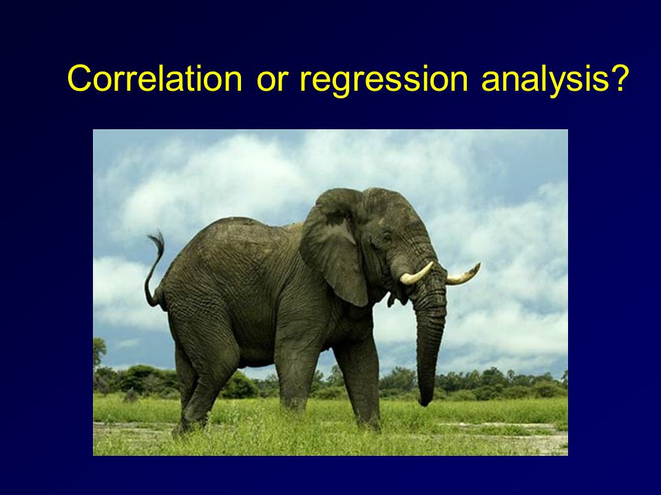 Correlation or regression analysis?