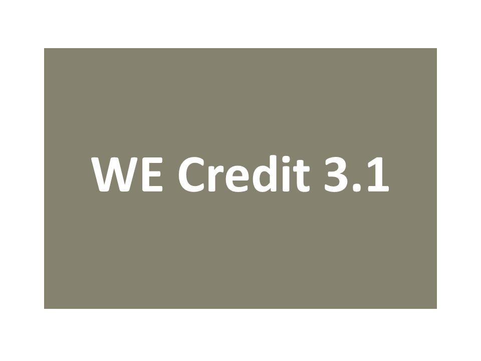 WE Credit 3.1
