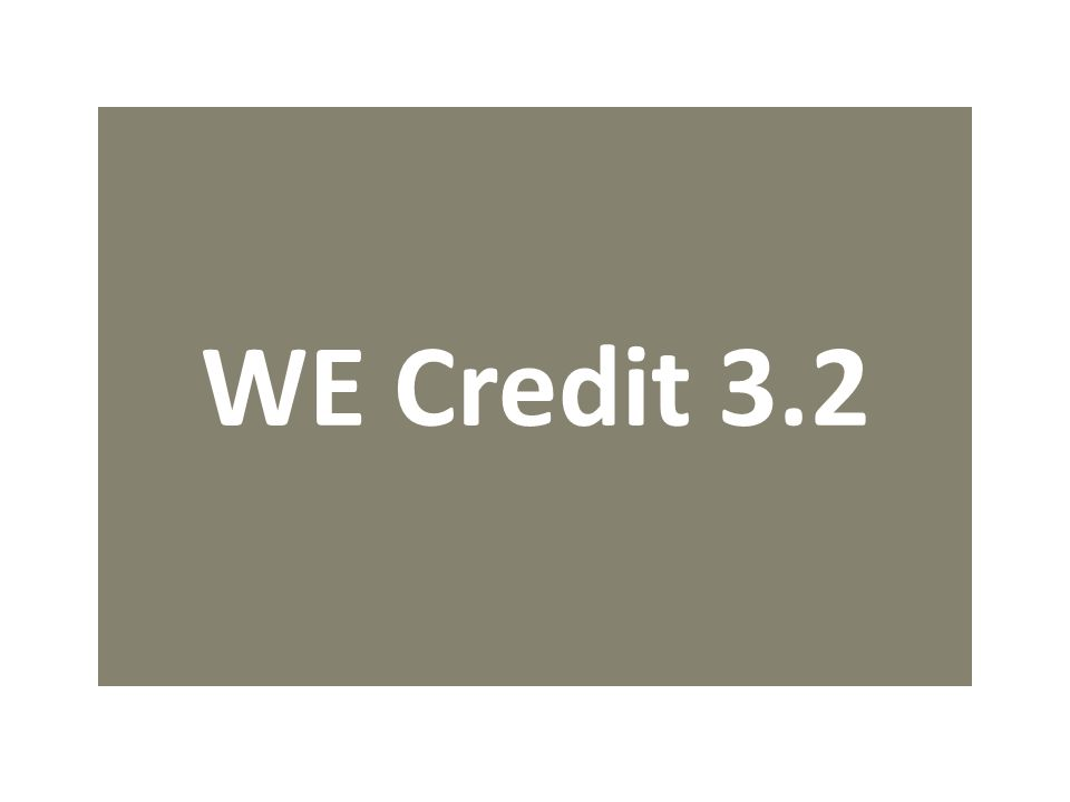 WE Credit 3.2