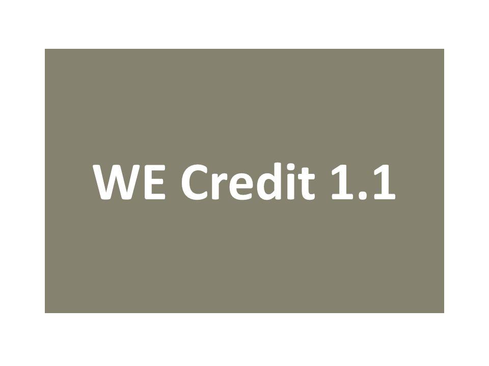 WE Credit 1.1