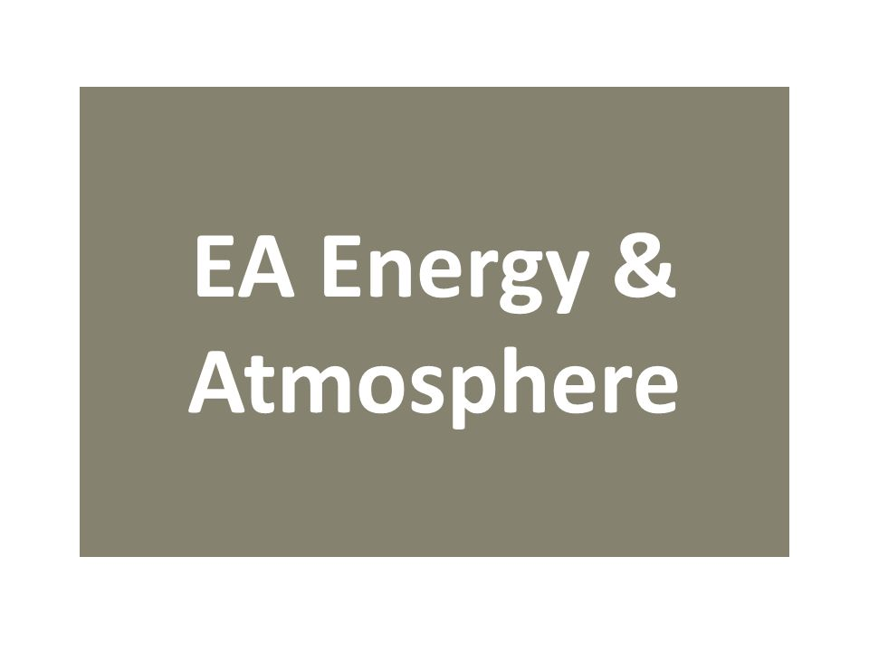 EA Energy & Atmosphere