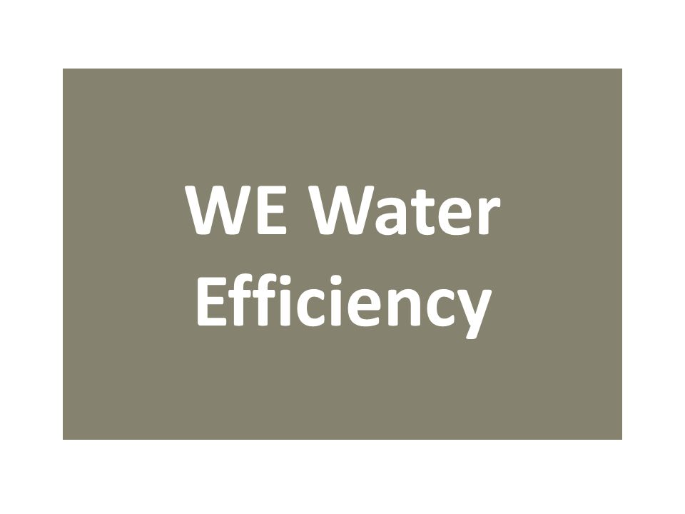 WE Water Efficiency