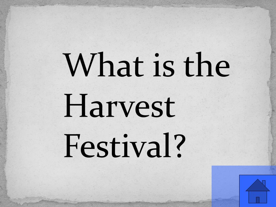 What is the Harvest Festival