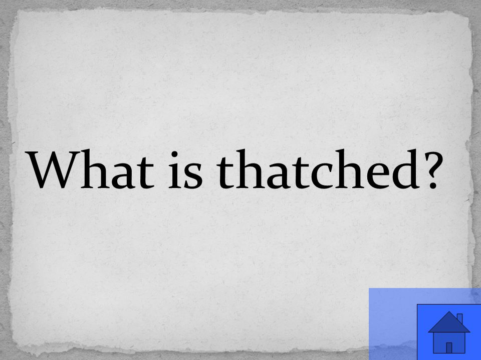 What is thatched