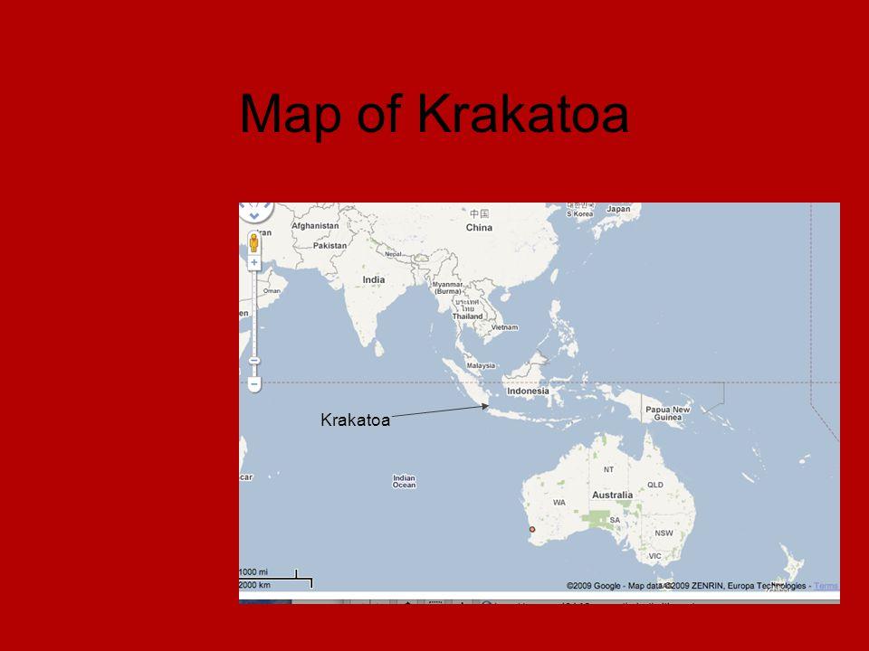Map of Krakatoa Krakatoa