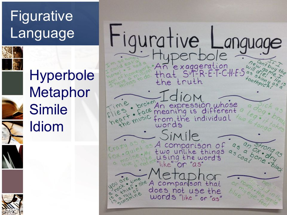 Figurative Language Hyperbole Metaphor Simile Idiom