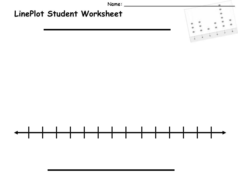 LinePlot Student Worksheet Name: ______________________________________