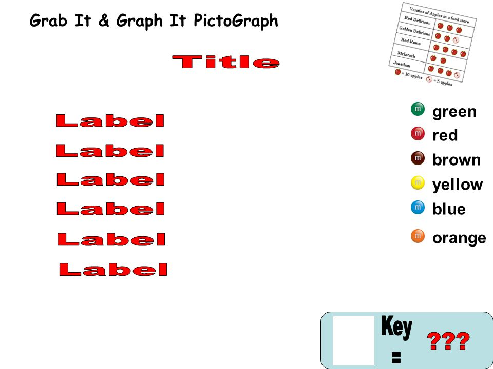 blue yellow brown red green orange Grab It & Graph It PictoGraph