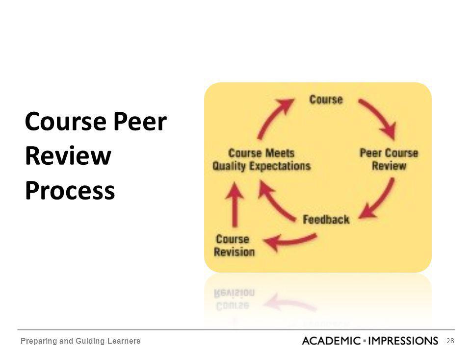 28 Preparing and Guiding Learners Course Peer Review Process