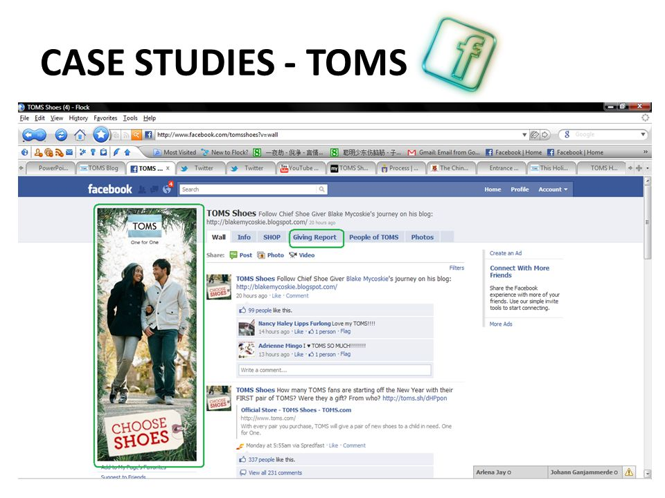 CASE STUDIES - TOMS