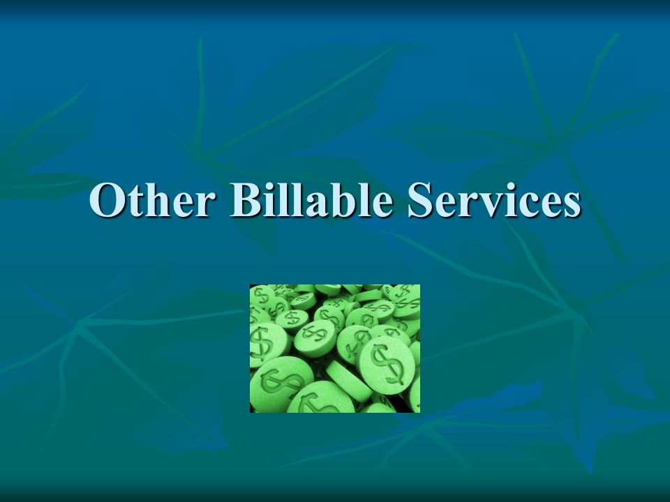 Other Billable Services