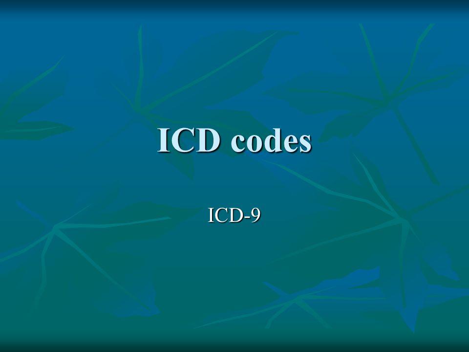 ICD codes ICD-9