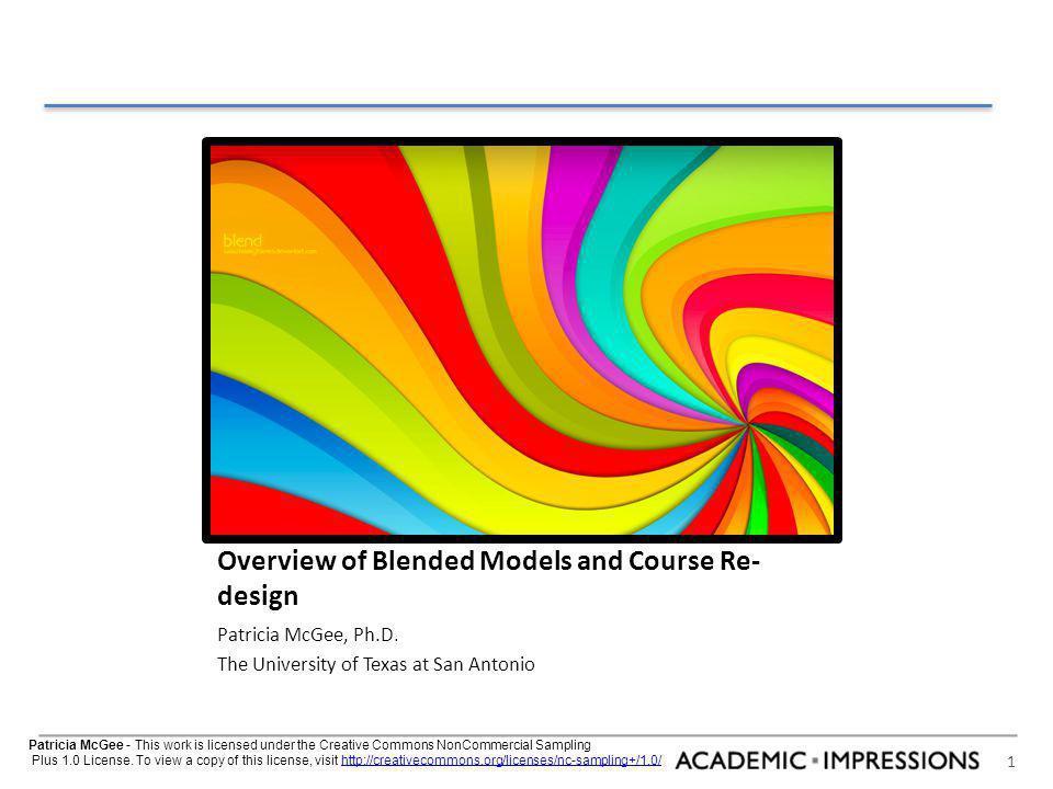 2 agenda Defining the Blend Models Re-Design Overview
