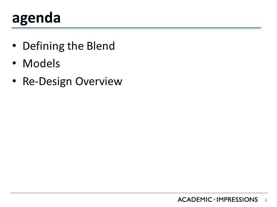 Type A: Student Experience Class Topic, Goals, Other Factors Attend Class in person.