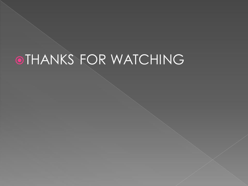  THANKS FOR WATCHING