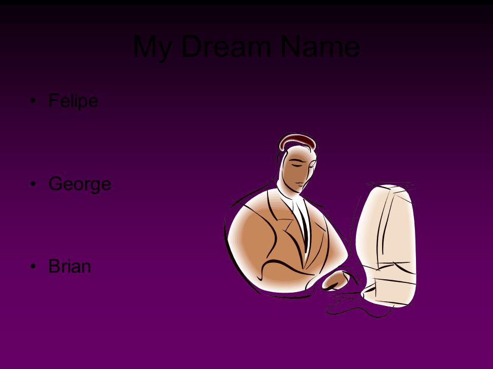 My Dream Name Felipe George Brian