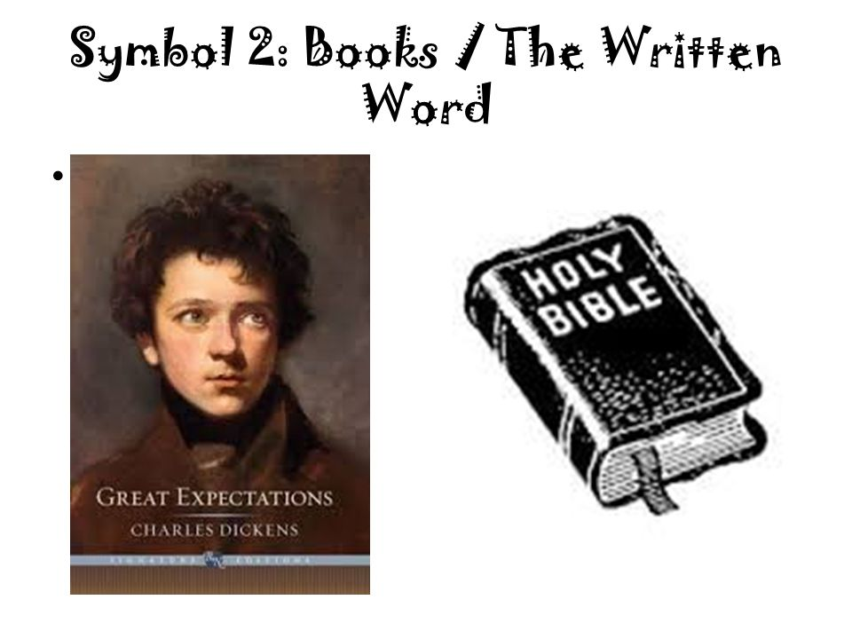Symbol 2: Books / The Written Word A book