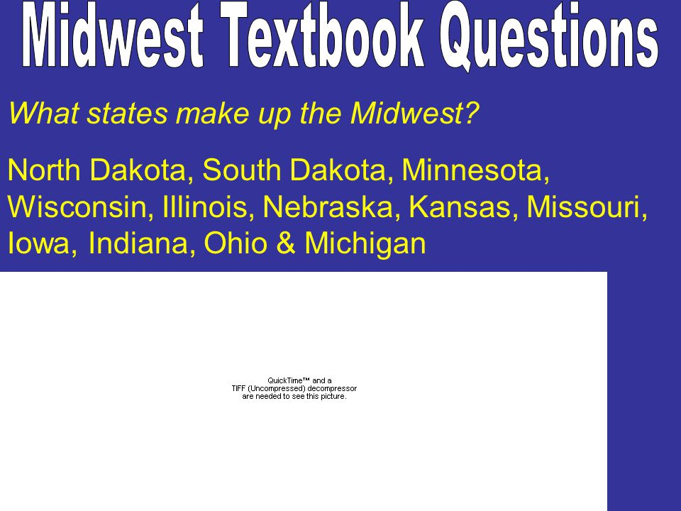 What states make up the Midwest.