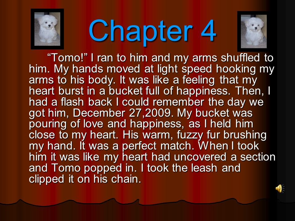 Chapter 4 Chapter 4 Tomo! I ran to him and my arms shuffled to him.