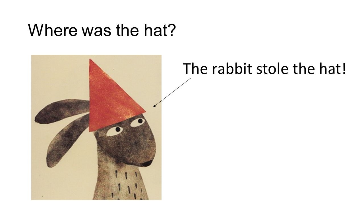 Where was the hat? The rabbit stole the hat!