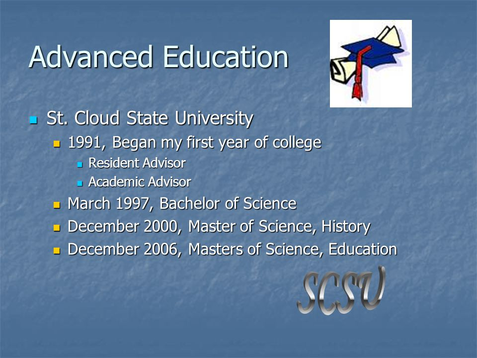 Advanced Education St.Cloud State University St.