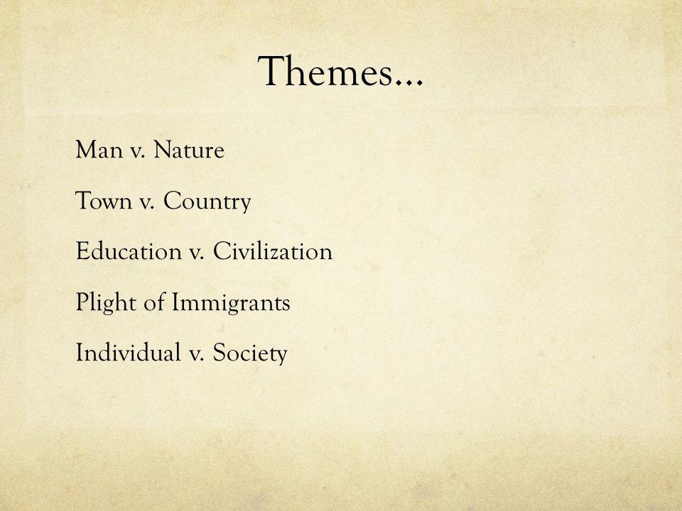 Themes… Man v. Nature Town v. Country Education v.