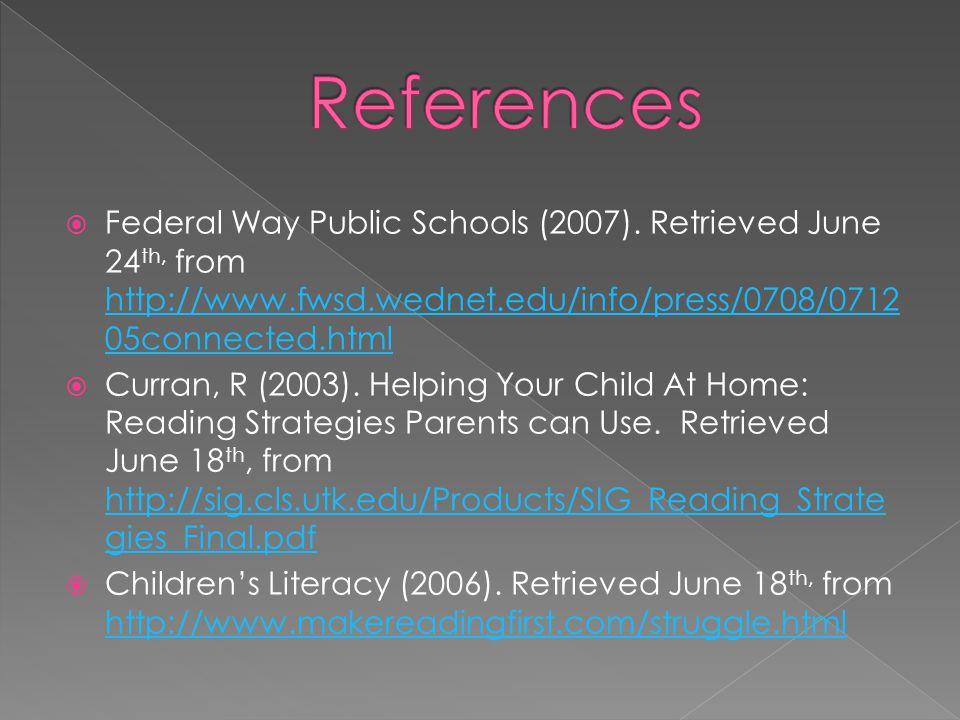  Federal Way Public Schools (2007).
