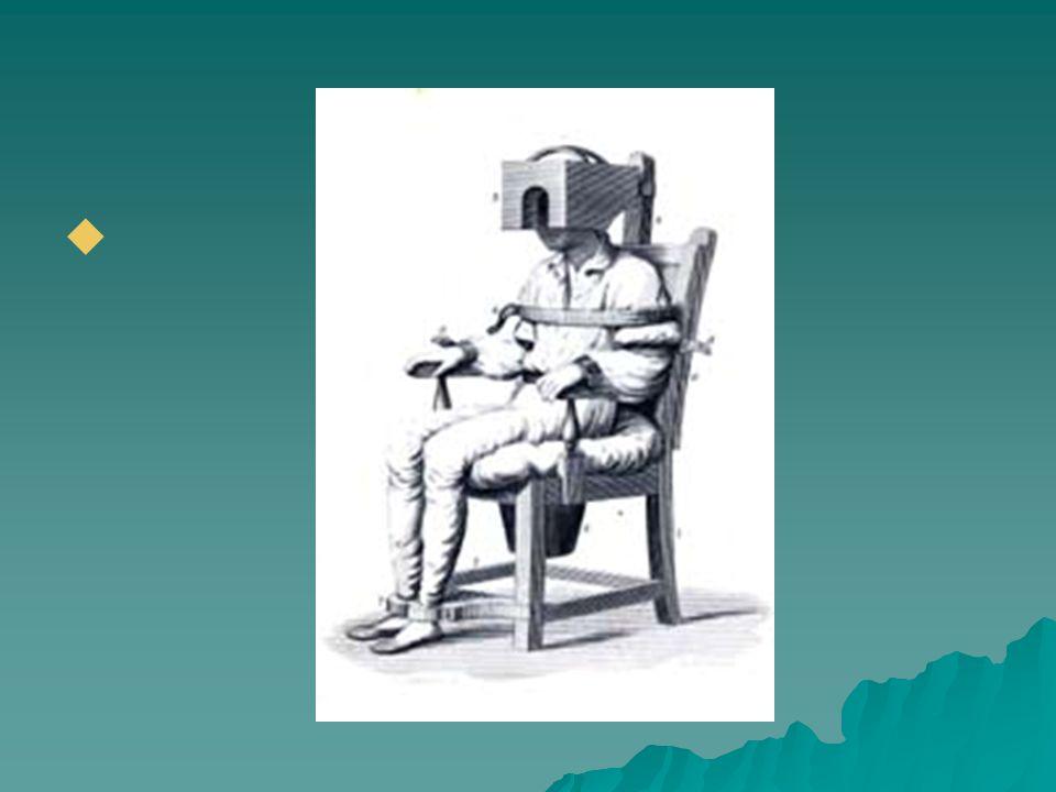  1773: 1 st psychiatric hospital  Linda Richards  Committee for Mental Hygiene  ECT/Insulin shock  Frontal lobotomy