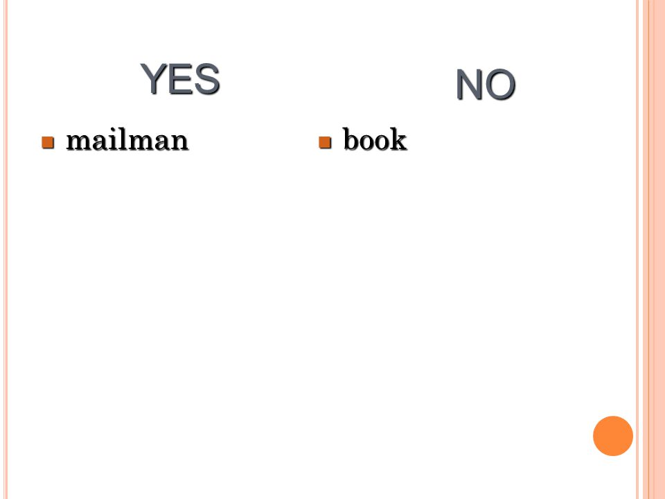 mailman mailman book book YES NO