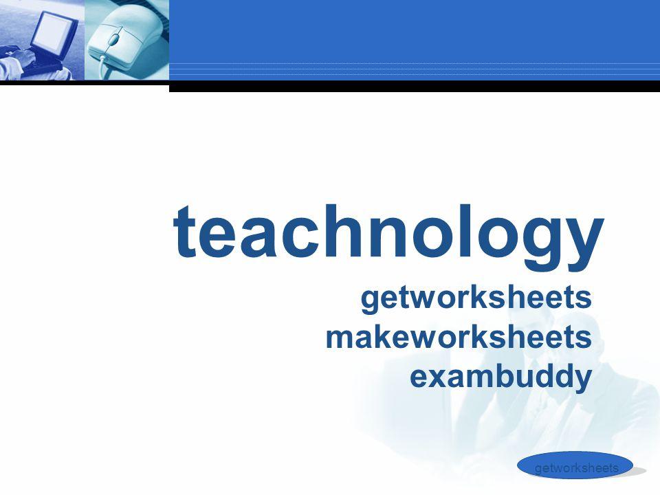 teachnology getworksheets makeworksheets exambuddy getworksheets