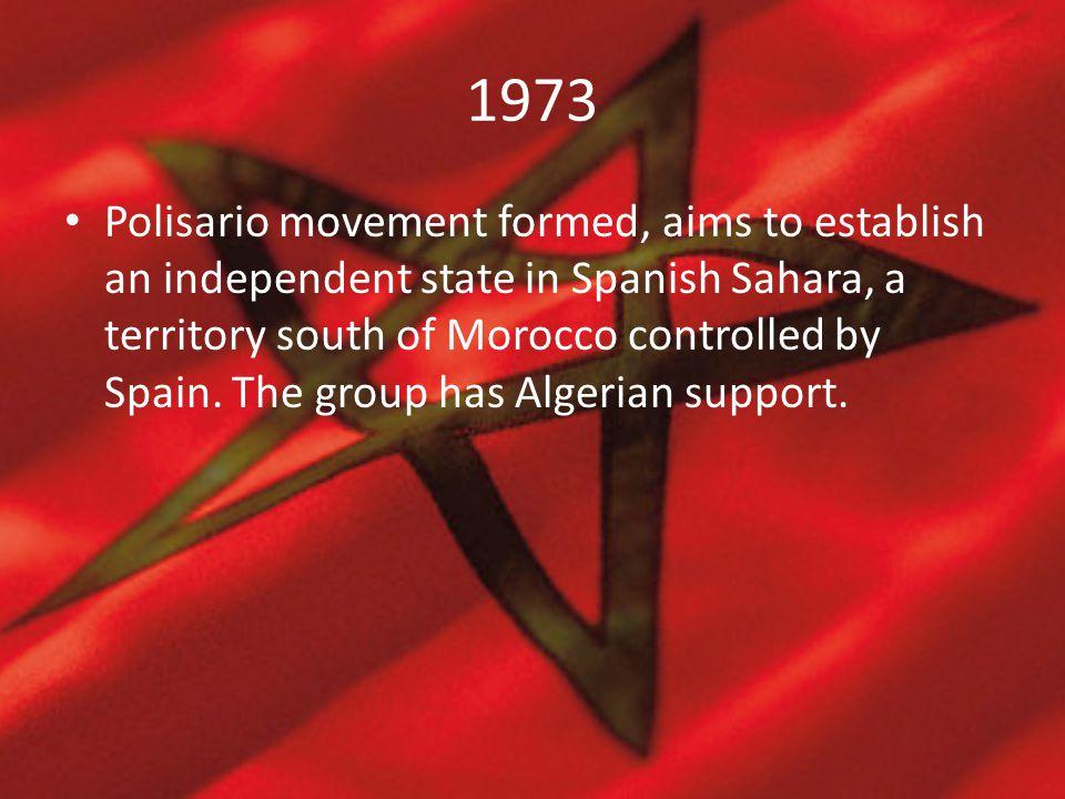 1975 6 November- The Green March: King Hassan orders 350,000 civilian volunteers to cross into Spanish Sahara.