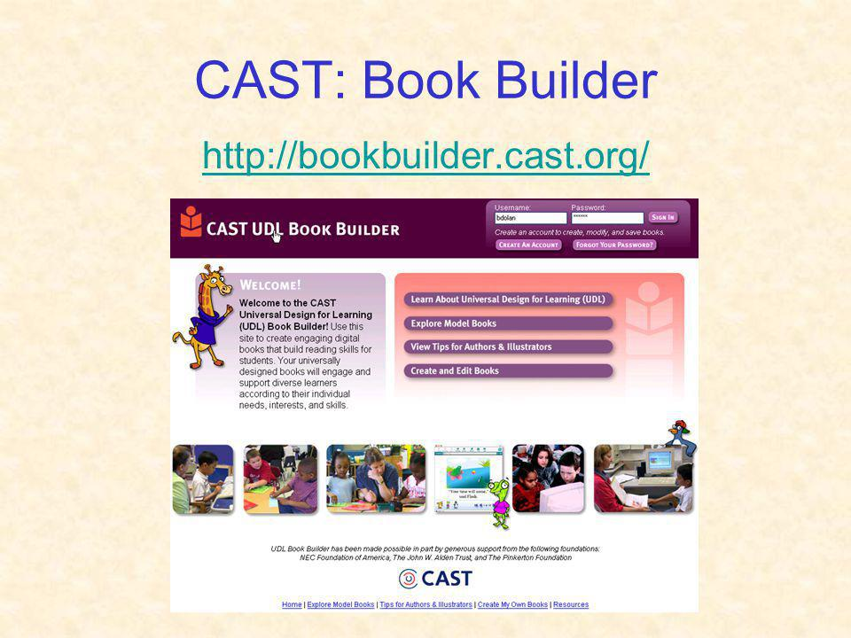 CAST: Book Builder http://bookbuilder.cast.org/