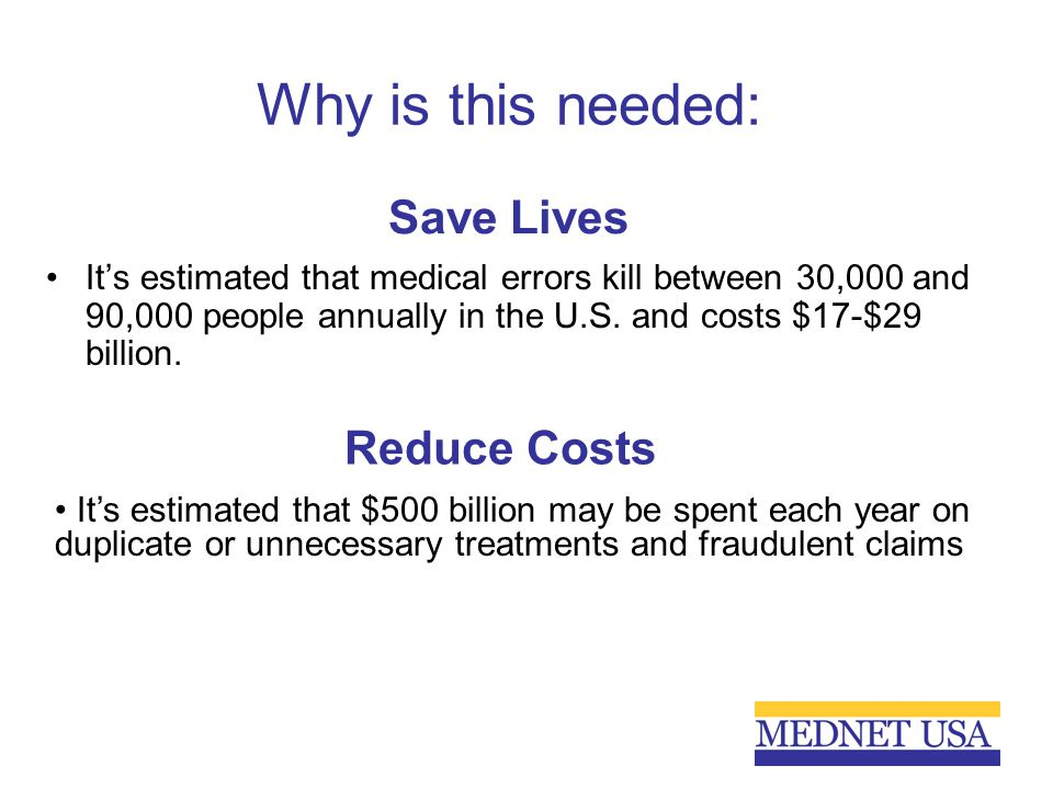 Why is this needed: It's estimated that medical errors kill between 30,000 and 90,000 people annually in the U.S. and costs $17-$29 billion. Reduce Co