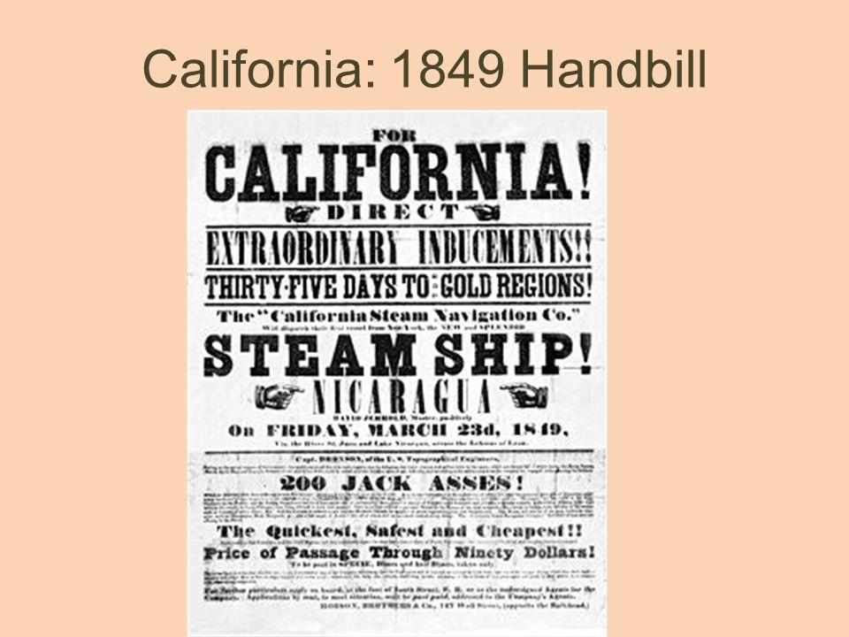 California: 1849 Handbill