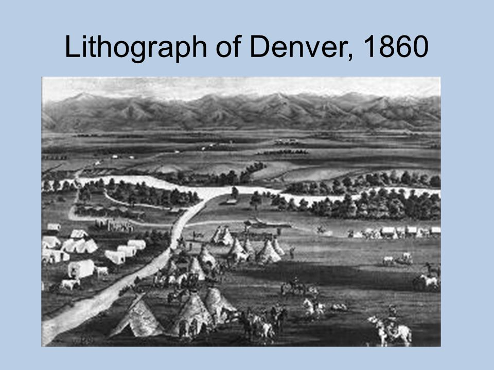 Lithograph of Denver, 1860