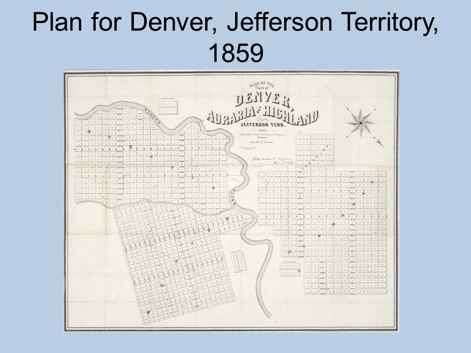 Plan for Denver, Jefferson Territory, 1859