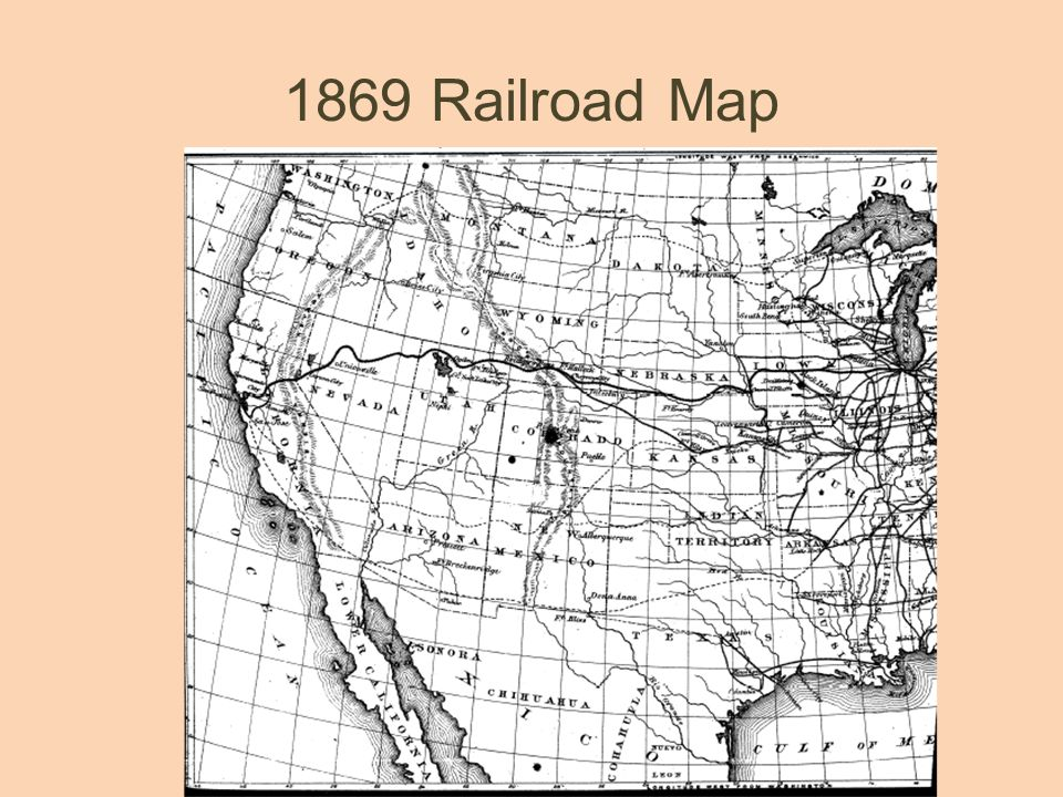 1869 Railroad Map
