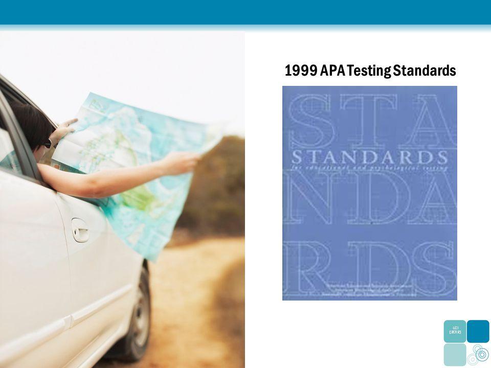1999 APA Testing Standards