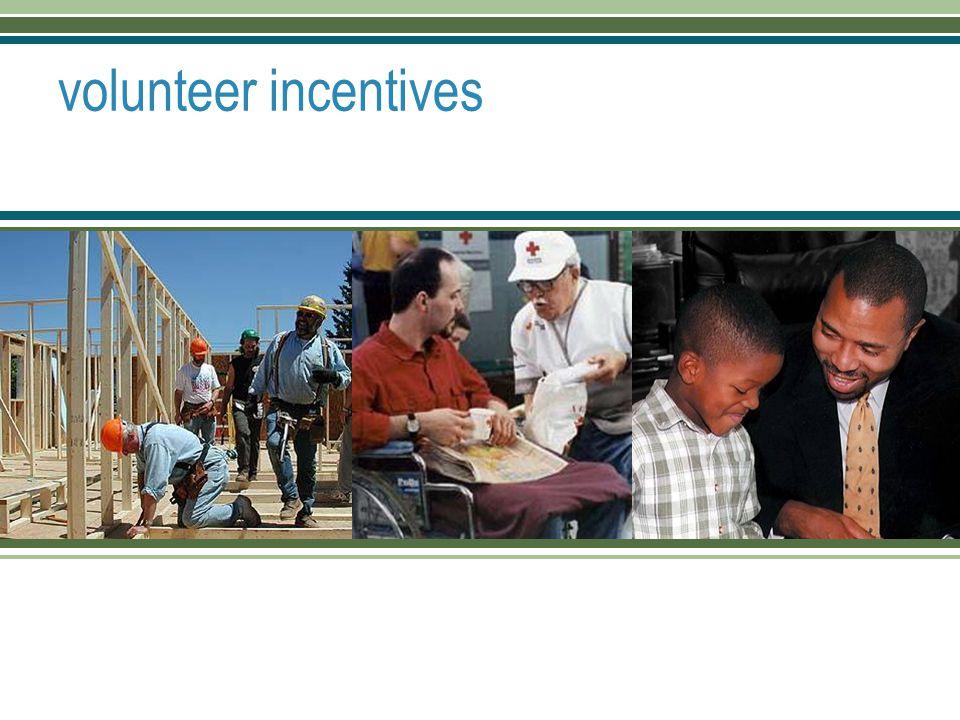 volunteer incentives